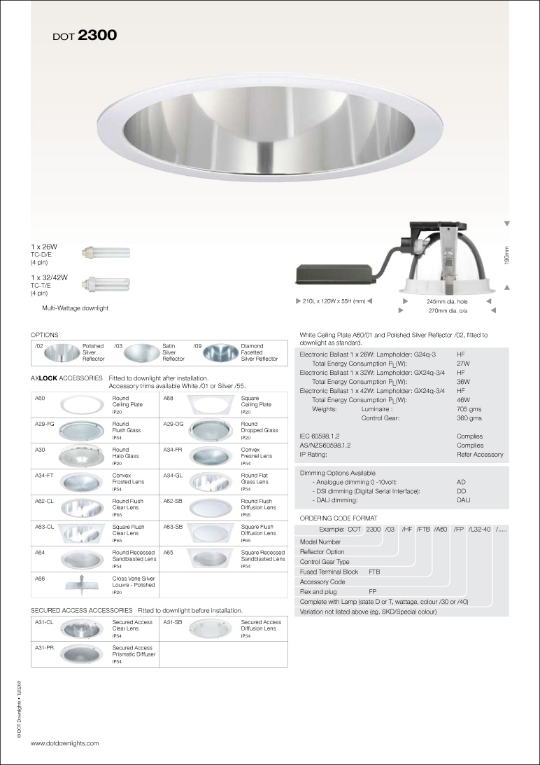 DOT 2300 Downlight Data Sheet