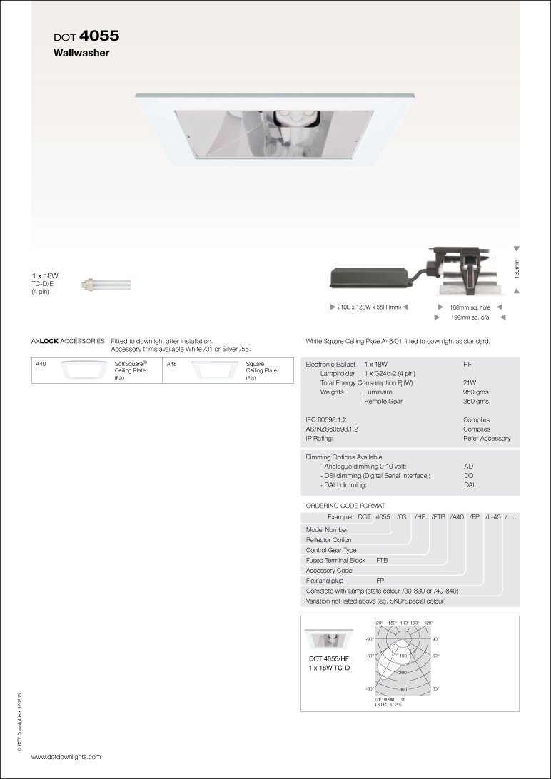 DOT 4055 Downlight Data Sheet